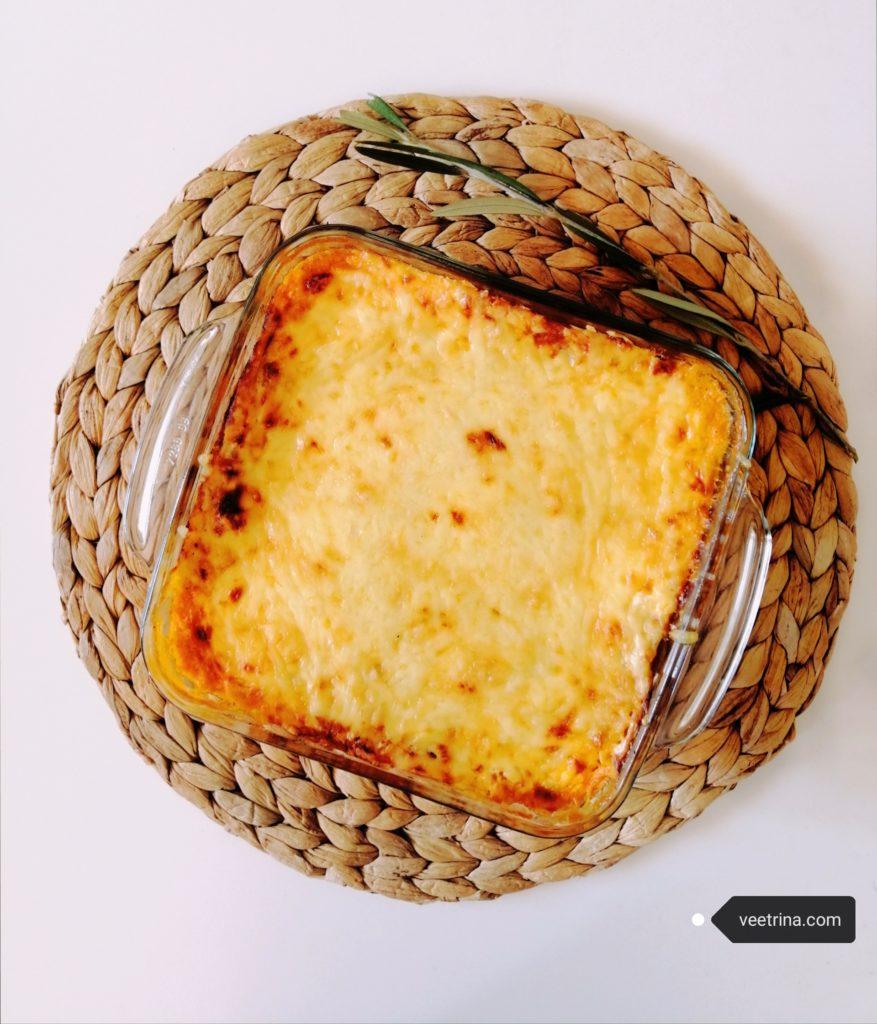 Vege lasagne od ostataka palačinki i povrća