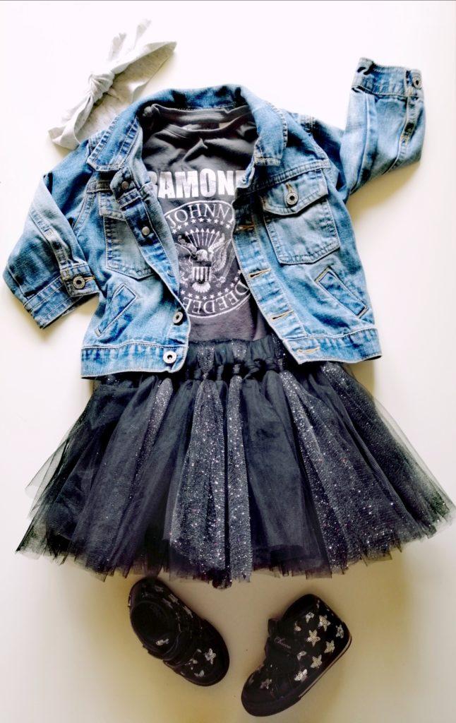 DIY suknja od tila bez šivanja outfit broj 1
