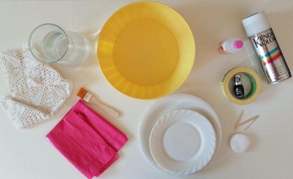 Oprema za ukrašavanje tanjura sa nekoliko različitih tehnika