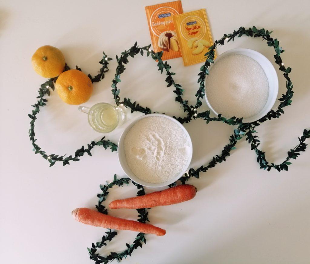 sastojci za tortu od mandarine i mrkve