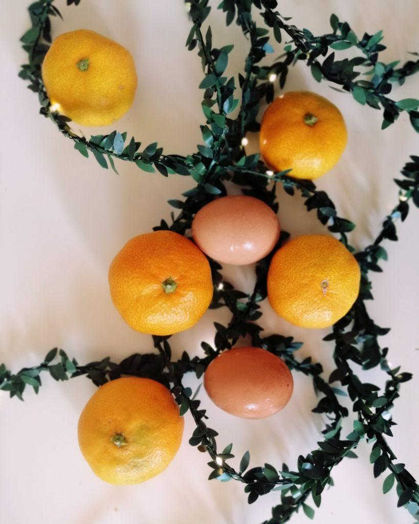 jaja i mandarine za tortu Izy pizy