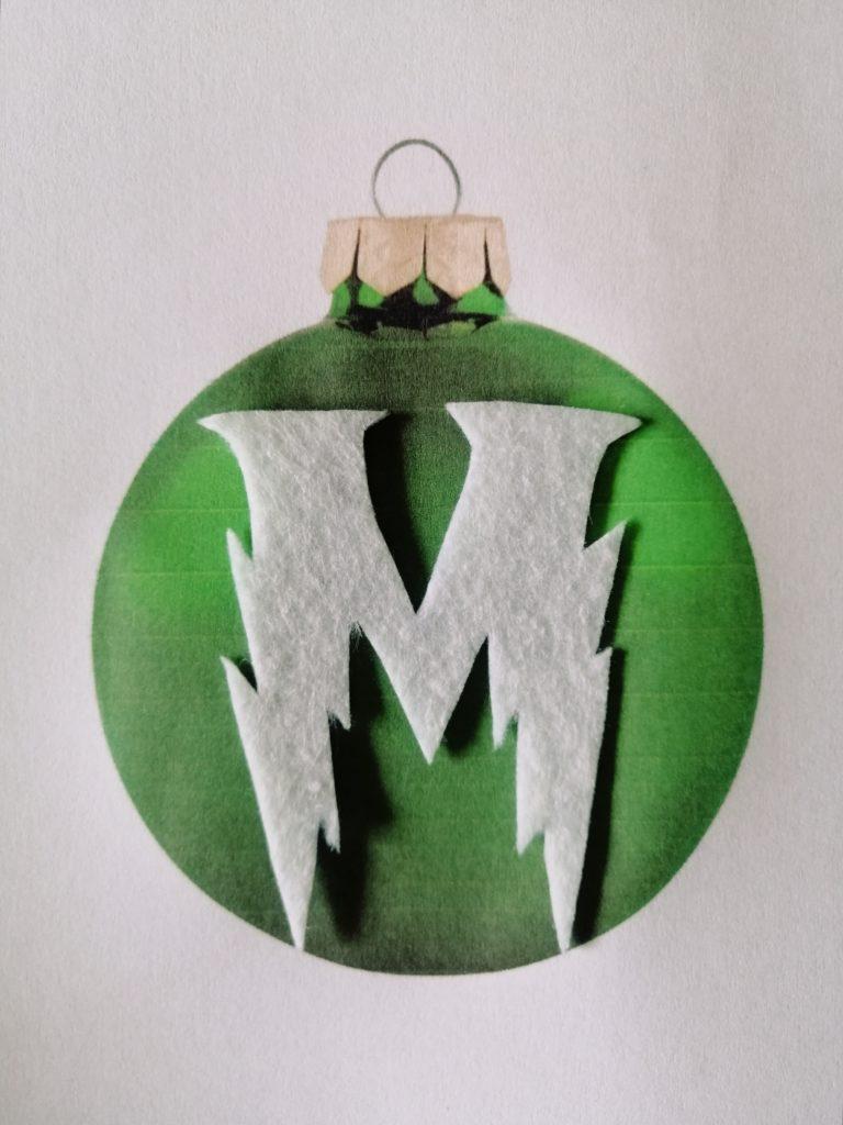 Uzorak božićne kuglice kao šablona