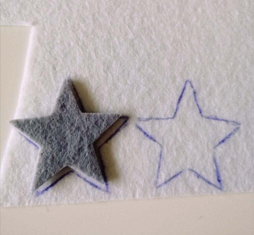 Izrada zvjezdica od filca
