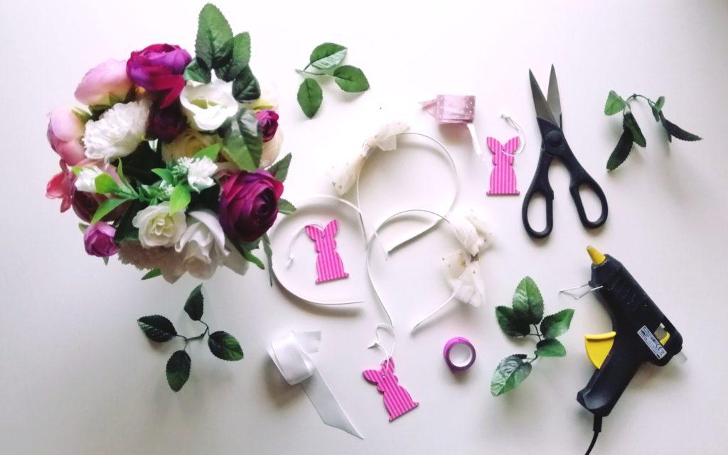 Materijal za izradu cvjetnog vijenca za malene zečice