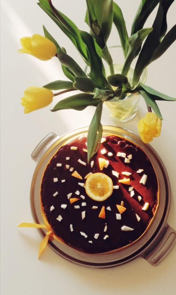 Cheesecake od naranče, čokolade i zobenih pahuljica