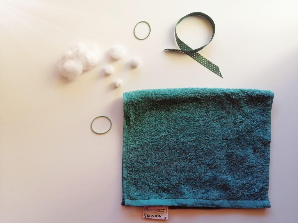 Materijal potreban za izradu malenih zečeva od ručnika