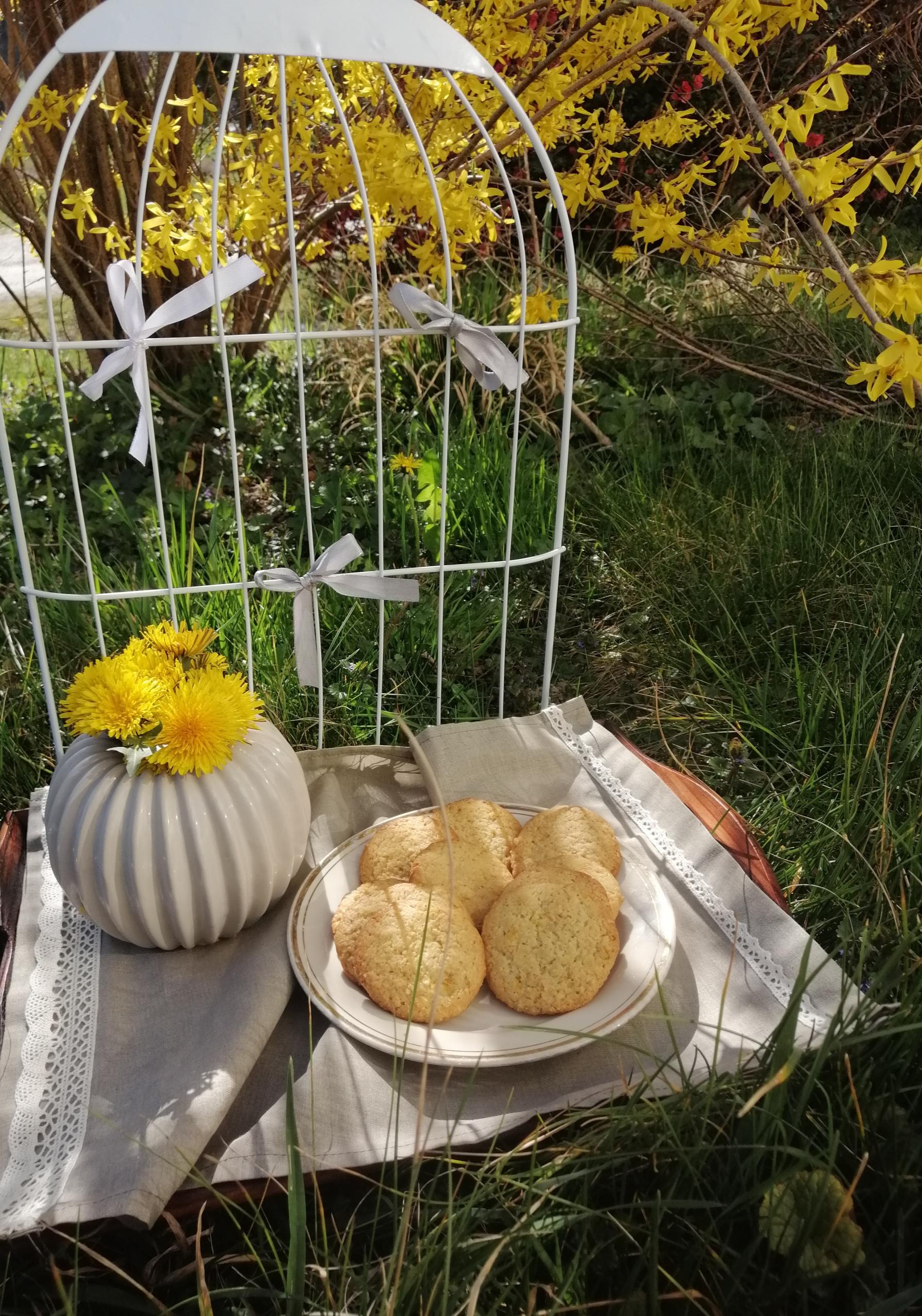 Hrskavi keksići sa bademom i cvjetovima maslačka