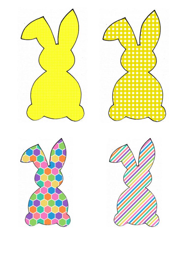Žuto-šarena obitelj zečeva