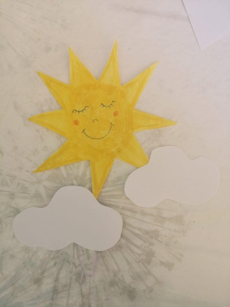 Izrezano sunce i oblaci