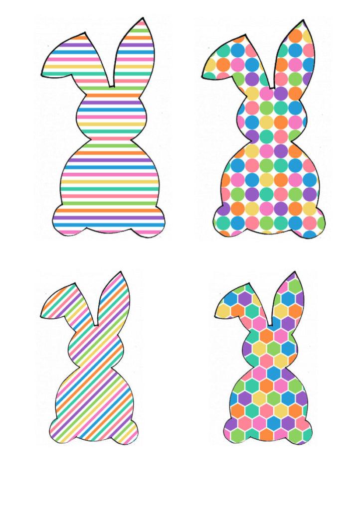 Šarena obitelj zečeva